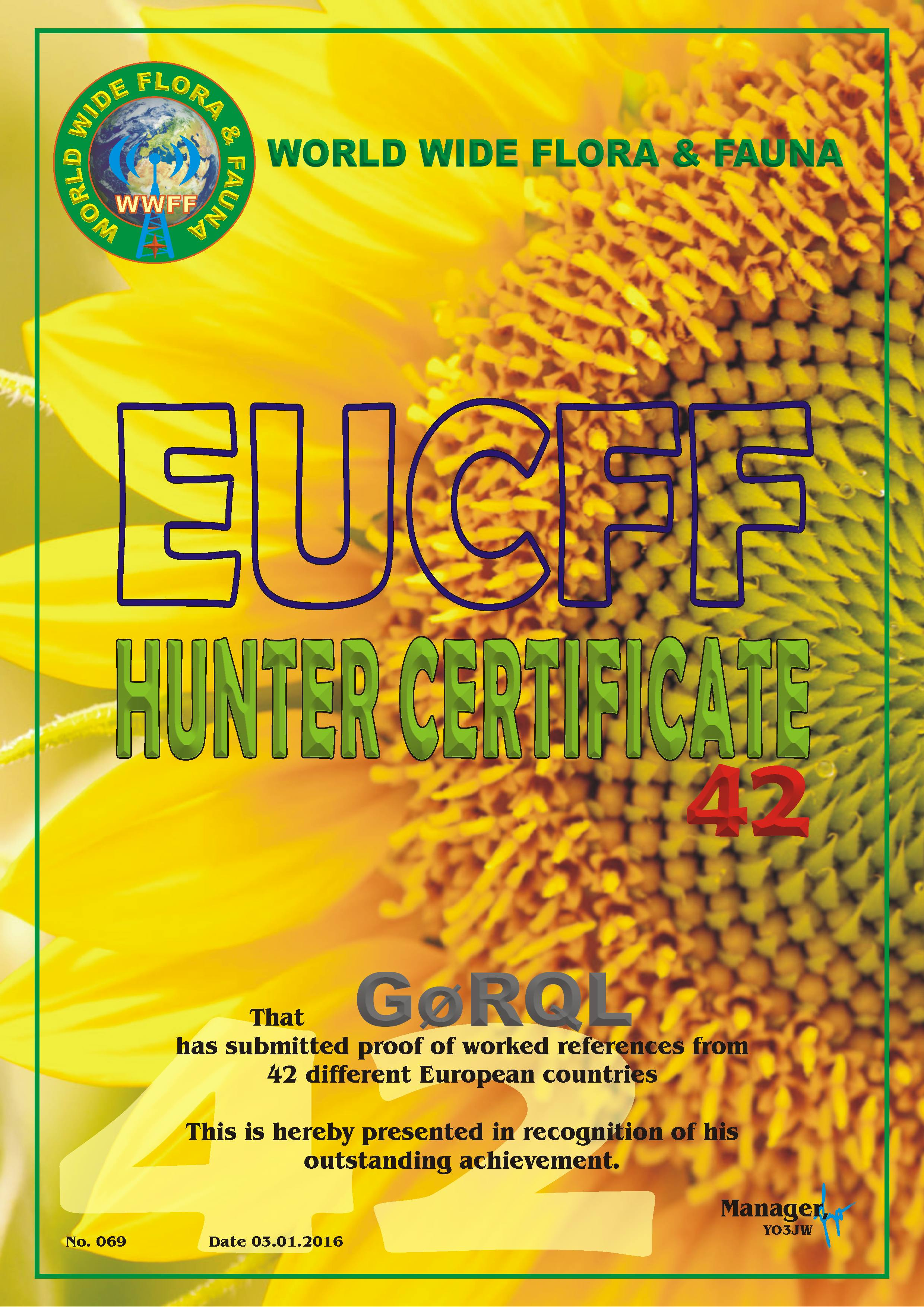 EUCFF 42 Contacts